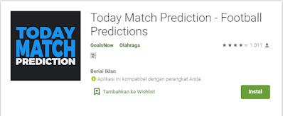 Today Match Prediction - Aplikasi Prediksi Bola Paling Cepat
