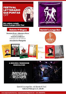 Festival Sas Puntas Off: 9 giugno   Tissi