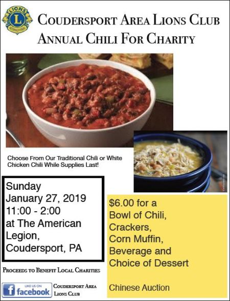 1-27 Chili for Charity, Coudersport