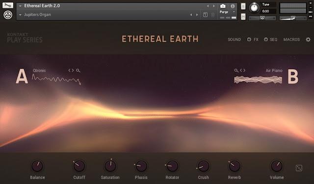 Interface da Biblioteca Native Instruments - Ethereal Earth 2.0.1 (KONTAKT)
