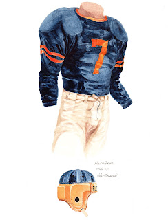 1944 University of Florida Gators football uniform original art for sale