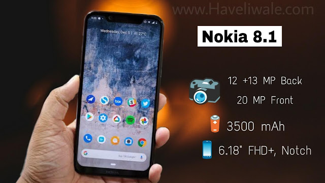 Nokia 8.1 - Price, Full Specifications & Features
