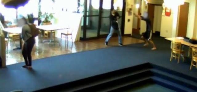 Video muestra accion de estudiante que frustra una masacre