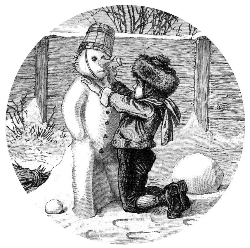 vintage snowman clipart - photo #11