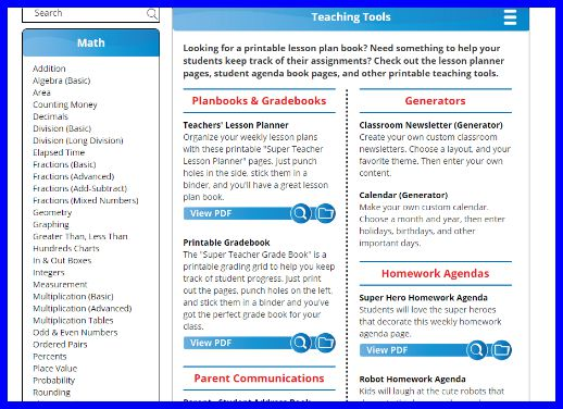 A review of the Super Teacher Worksheets site