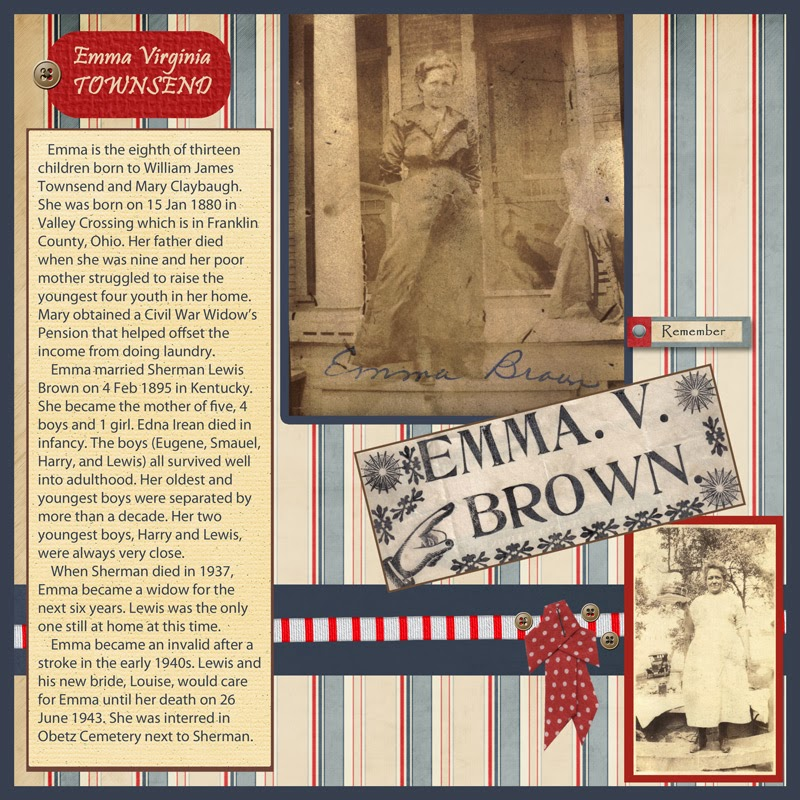 Heritage Scrapbooking Mother Page