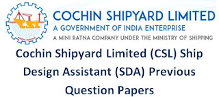 CSL Ship Design Assistant (SDA) Previous Question Papers