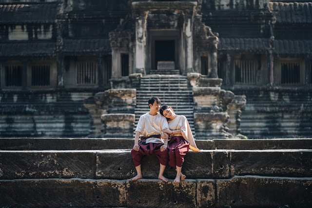 Khmer traditional costume pre-wedding