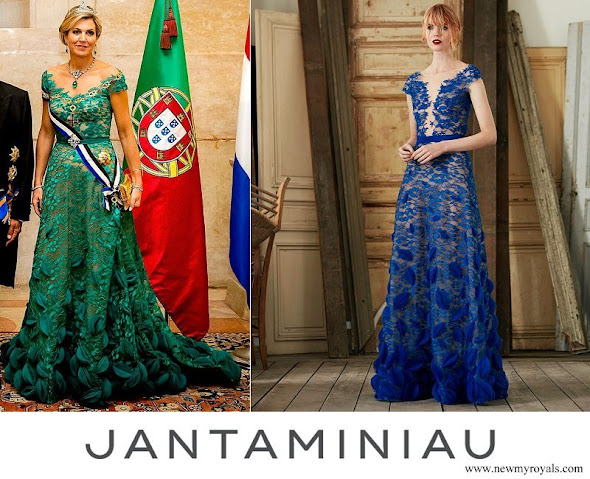 Queen Maxima wore her dress from Dutch fashion designer Jan Taminiau