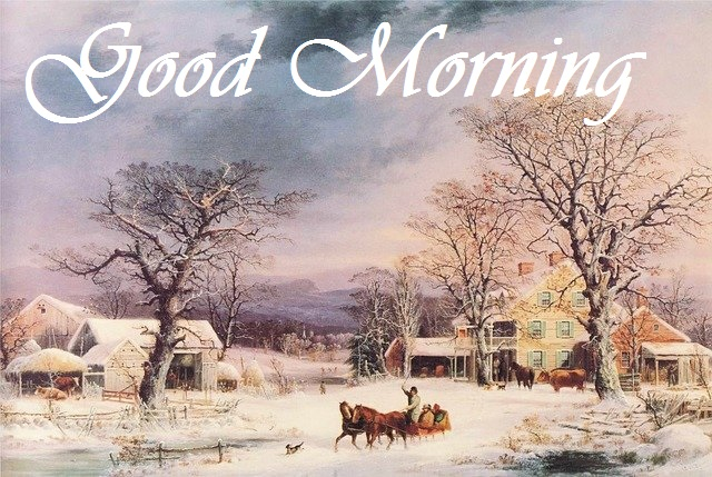 good morning beautiful village painting