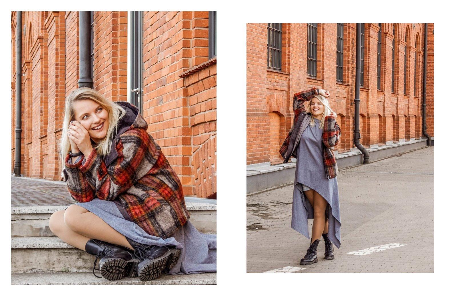 11a płaszcz - ubranie, moda polska, hot moda, moda damska jesień 2018, moda for you, net moda, blog, blogerki fashion łódź anataka kurtka w kratkę ciepła kurtka stylizacje w co się ubrać eleganckie kurtki blondynka