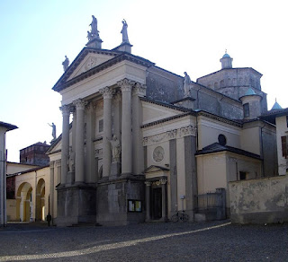 Ivrea's cathedral, with its neoclassical facade