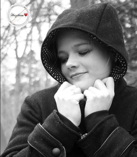 """Mantel """"Eisblume"""" nähen, ein Wintermantel für Damen."""