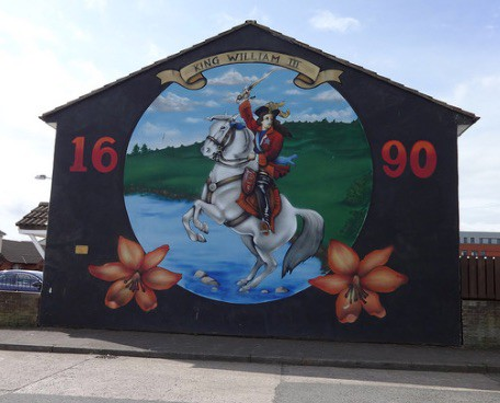 King William of Orange Mural Northern Ireland