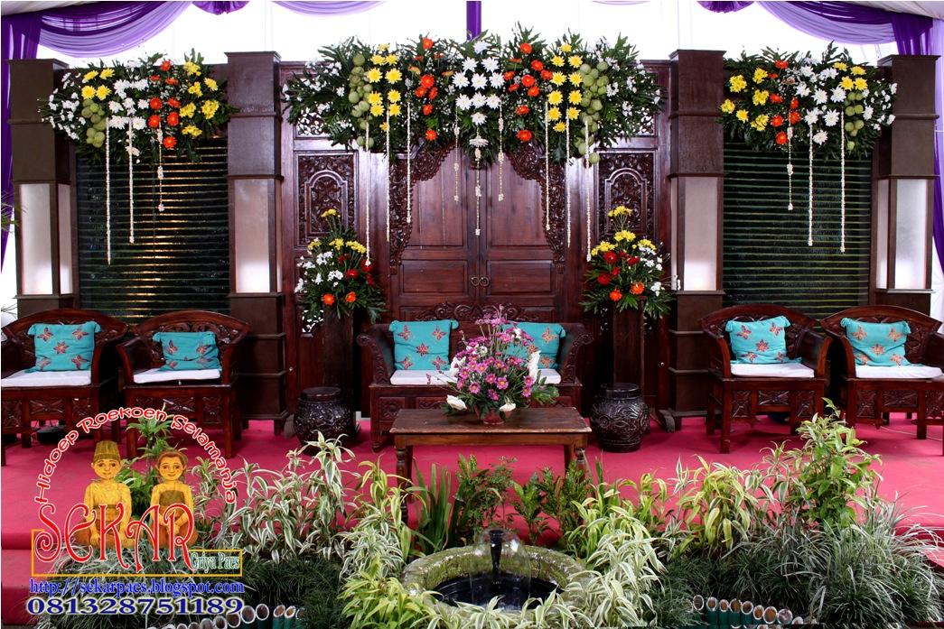 kekuatan warna dekorasi pernikahan