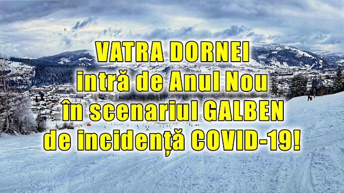 Vatra Dornei intră de la miezul nopții în scenariul galben de incidență COVID-19