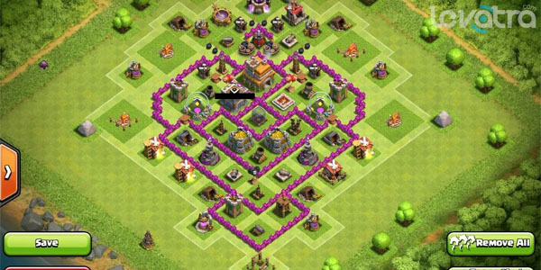 Kumpulan Formasi Base Town Hall 7 Dengan 3 Air Defense Clash of Clans