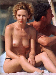 Topless Kylie Minogue Tits N Nipple Exposed outdoor