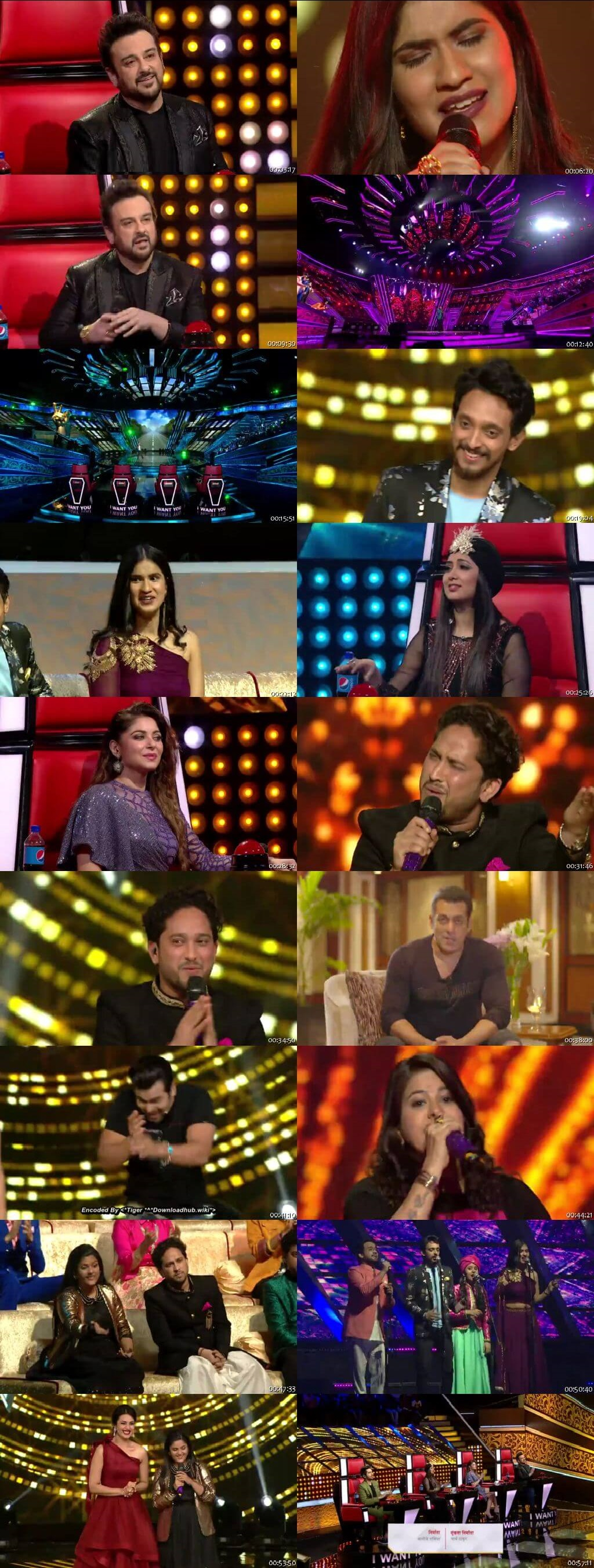 Screenshots Of Hindi Show The Voice 24th March 2019 Episode 15 300MB 480P HD