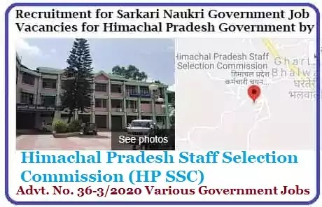 Government Jobs by Himachal Pradesh HP SSC