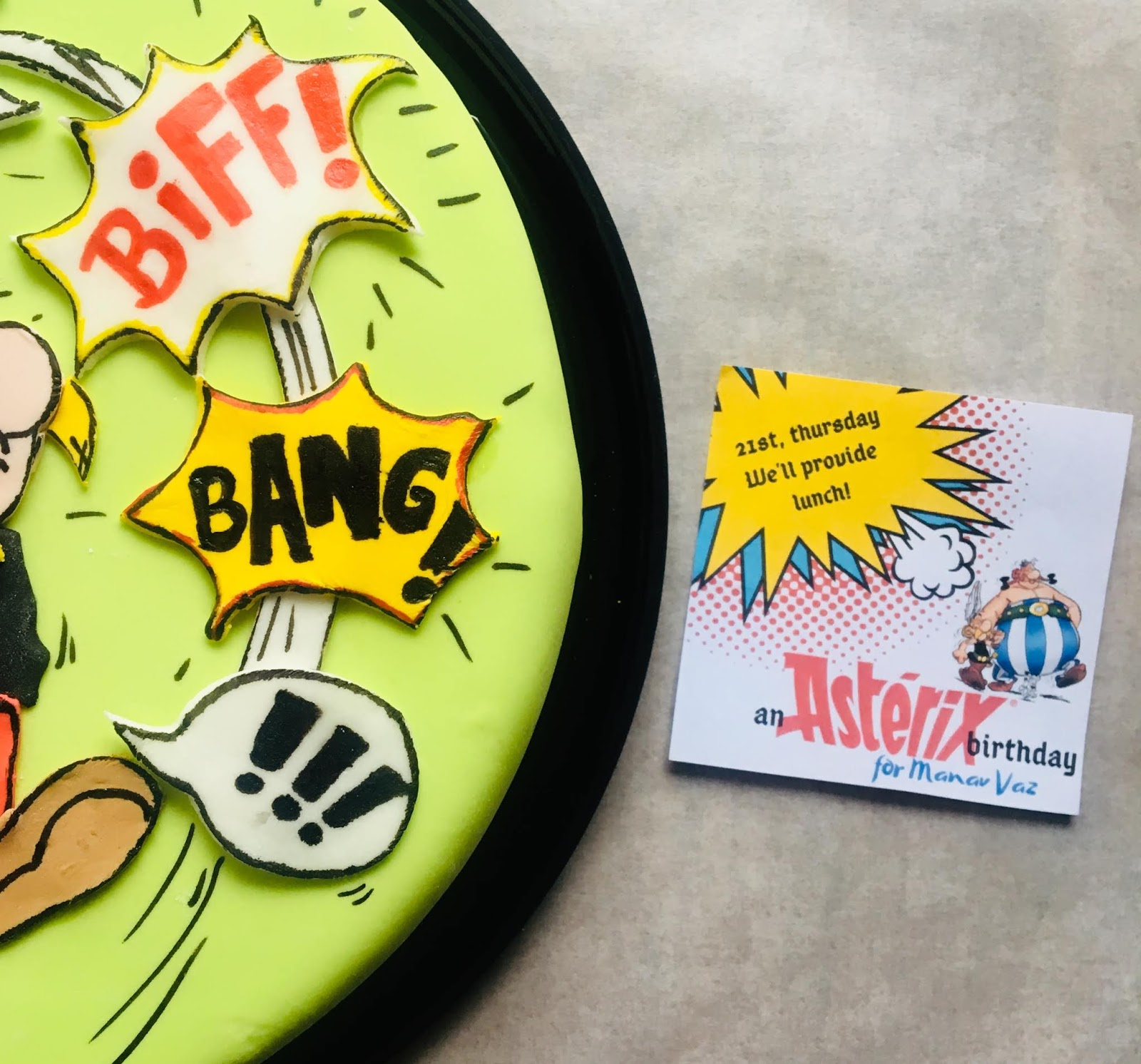 Asterix Themed Birthday Cake: DIY by Practical Mom