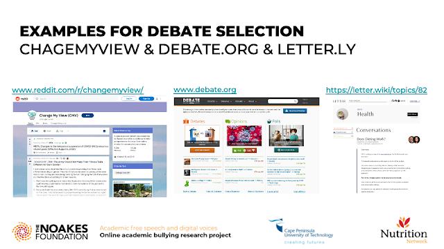 EXAMPLES FOR DEBATE SELECTIONCHAGEMYVIEW & DEBATE.ORG & LETTER.LY