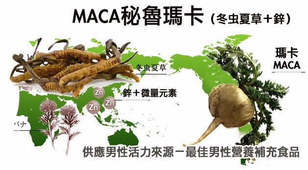 瑪卡(MACA)是秘魯人蔘,有冬蟲夏草和鋅