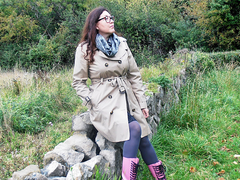 Kalosze Dr Martens i trencz/ Dr Martens Wellingtons and trench coat...