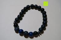 Optik: Gemdor Unisex Energiearmband Onyx Lavastein Armbandlänge ca. 16 - 21 cm in verschiedenen Ausführungen - Chakraarmband für Damen Edelsteinarmband Armband Damen Yoga