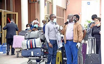 Passengers at JKIA moving to quarantine facilities