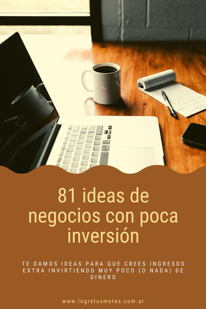 81 ideas de negocios con poca o nada de inversión