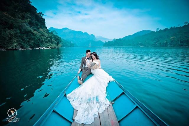 ảnh cưới đẹp hồ Ba Bể, Bắc Kạn