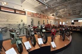 Motorcycles on display at Museo Agusto