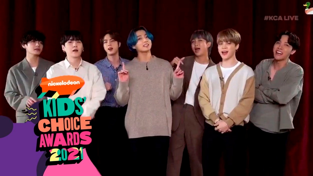 BTS Wins Three Awards at Once From The 2021 'Kids Choice Awards'