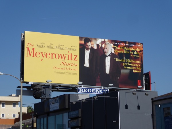 Meyerowitz Stories consideration billboard
