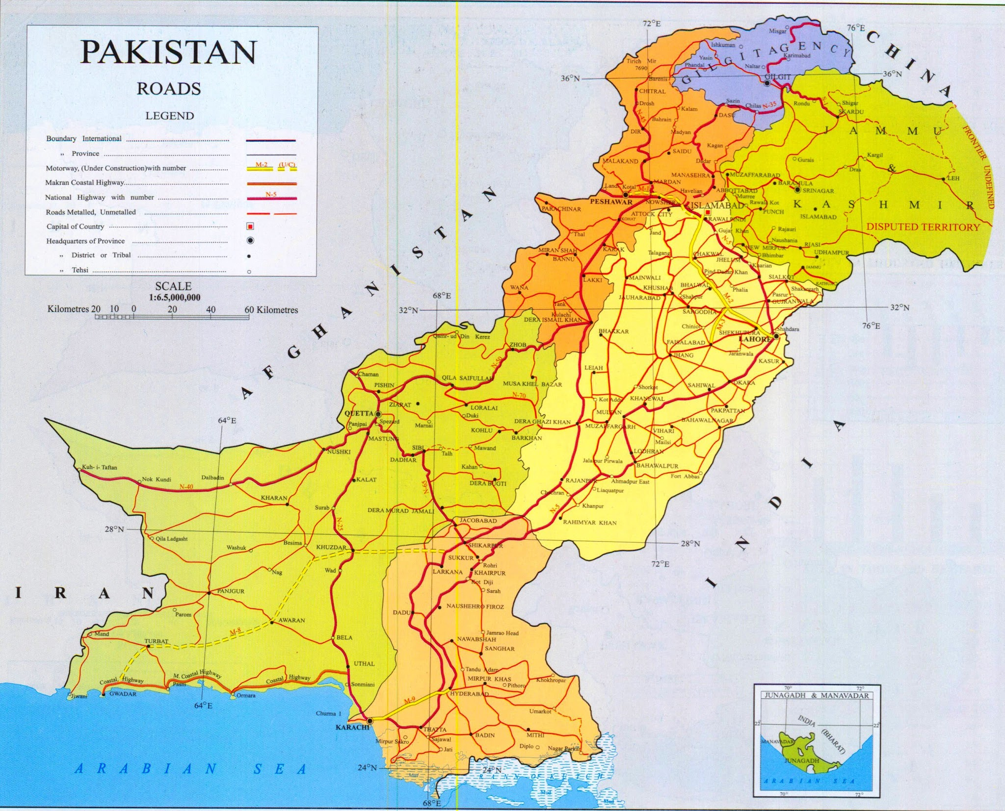 Republic Of Pakistan Map HD World Maps - World map pakistan