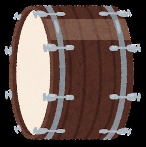 大太鼓のイラスト