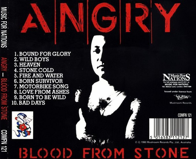 ANGRY ANDERSON - Blood From Stone (1990) back