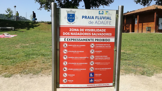 Praia Fluvial de Adaúde - Proibições