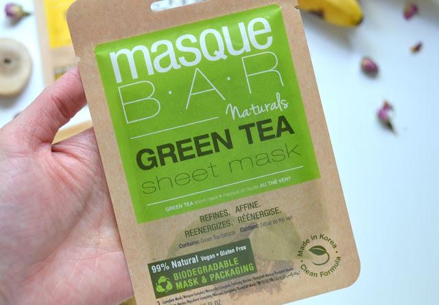 MasqueBAR Naturals Green Tea Sheet Mask