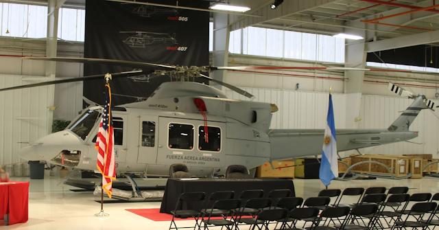 La Fuerza Aérea Argentina recibe cuatro nuevos helicópteros Bell 412