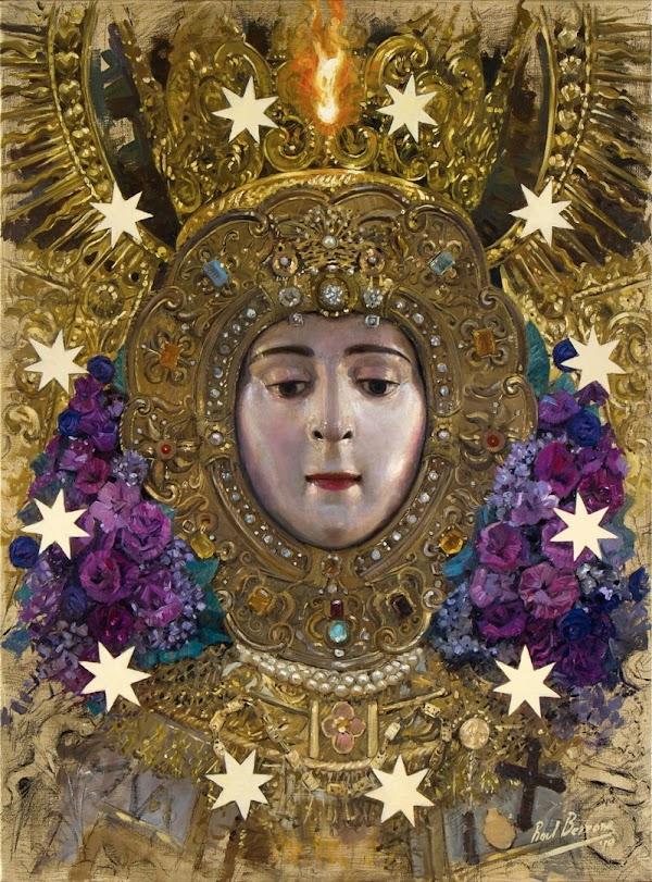 Sello dedicado al Centenario de la Coronación canónica de la Virgen del Rocío