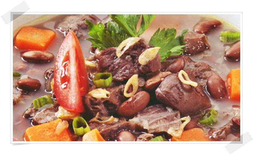 Gambar resep sup daging sapi spesial kacang