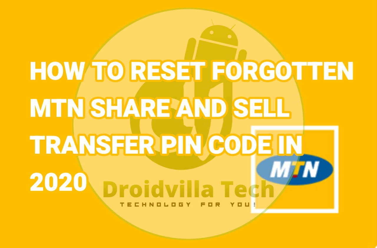 Reset MTN share and sell pin