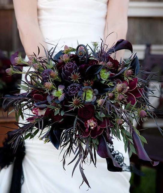 Foto de bouquet para noiva estilo halloween
