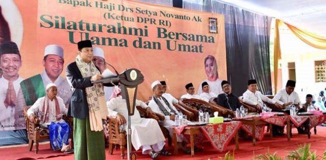 KH Setya Novanto Isi Ceramah di Pesantren Syekh Abdul Qodir Al Jailani Probolinggo