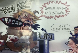 North Korean propaganda leaflets declaring 'Death to old lunatic Trump!' dropped over Seoul