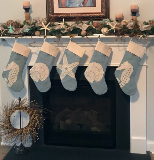 Blue Christmas Stockings