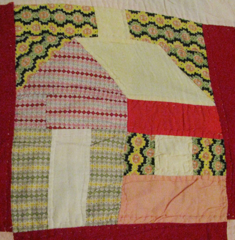 Textile Time Travels Funky Houses , Vintage Quilt