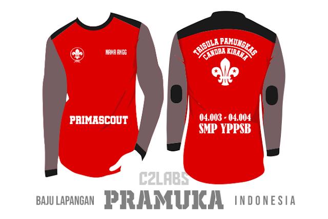 Baju Lapangan Pramuka Gudep Indonesia Combed 24s Adem dan Nyaman dipakai
